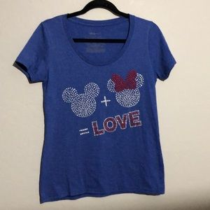 Diney Mickey & Mini Graphic Tee Size Mes